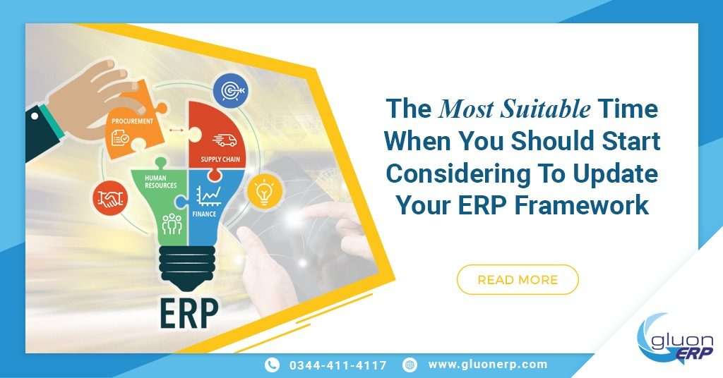 you can easily update erp