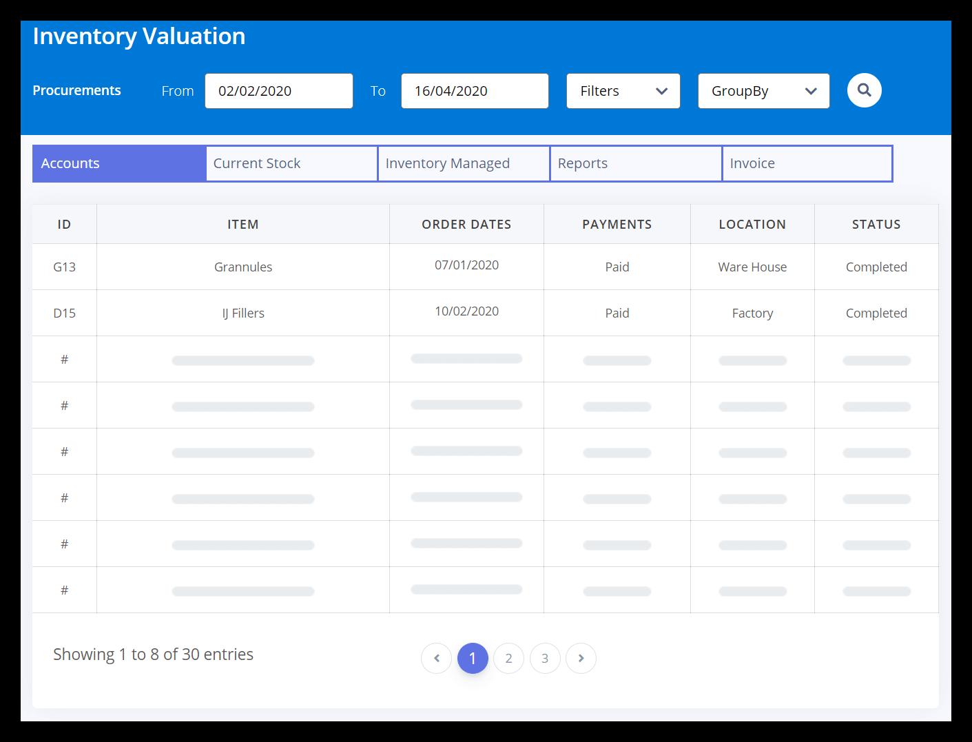 GLUON Inventory Management Module