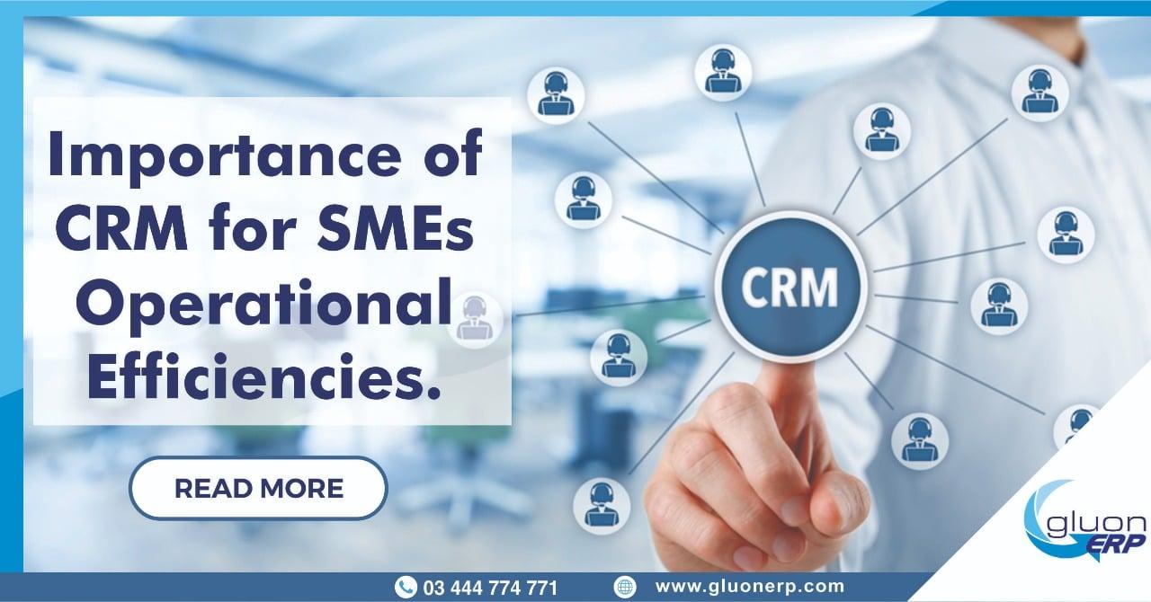 ERP Systems | CRM module | Better Operational Efficiency | GLUON ERP